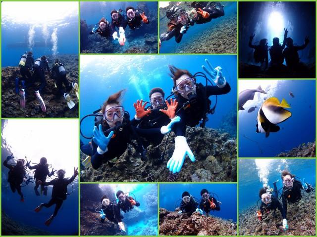 2017年3月18日 青の洞窟 沖縄 ダイビング&シュノーケル