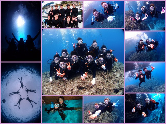 沖縄 青の洞窟 体験ダイビング&シュノーケルツアー 貸切開催 2016年3月17日のお客様