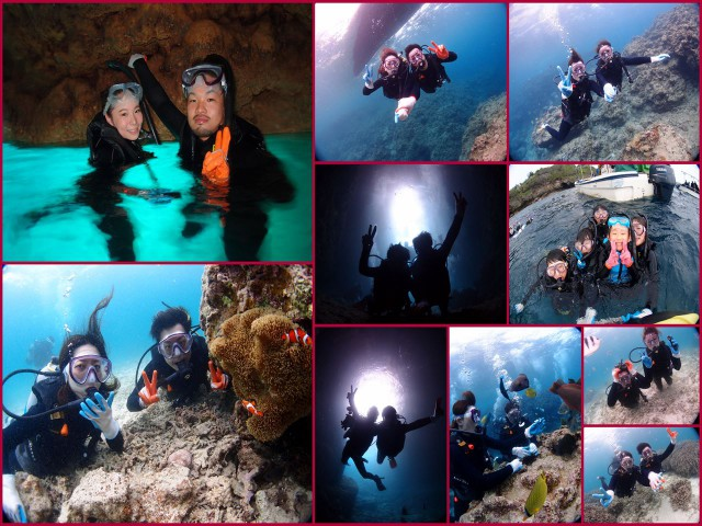 Diving Shop Lei 青の洞窟体験ダイビング(^^♪ 2017年5月20日のお客様