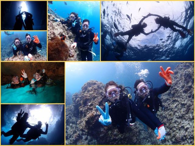 沖縄 青の洞窟体験ダイビング マーメイド体験 2017年5月22日のお客様