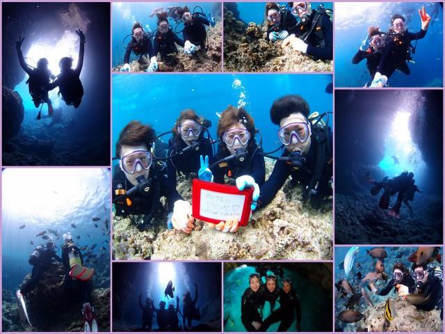 沖縄 青の洞窟 初ダイビング 2017年5月11日のお客様