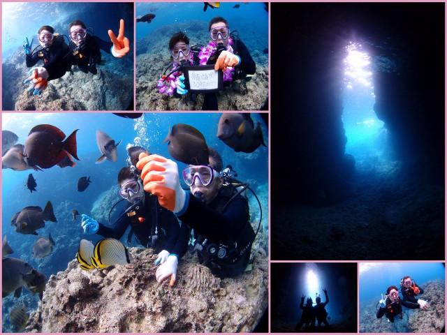 沖縄 青の洞窟 貸切ダイビング 2017年5月18日のお客様