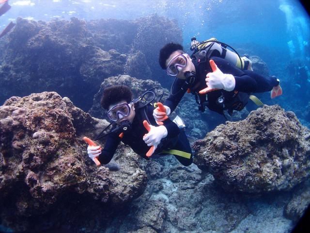 沖縄1グループ様ごと貸切でのご案内ダイビング&シュノーケルツアー  2017年5月10日のお客様