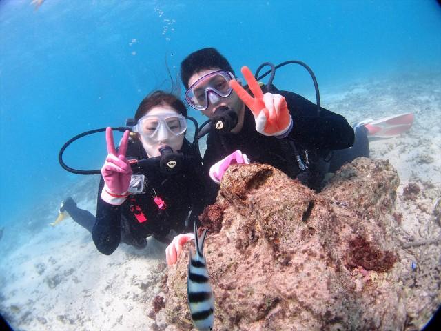 10月でも海遊び!!沖縄ダイビング&シュノーケルツアー 2017年10月7日のお客様