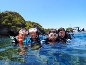 家族でダイビング 沖縄