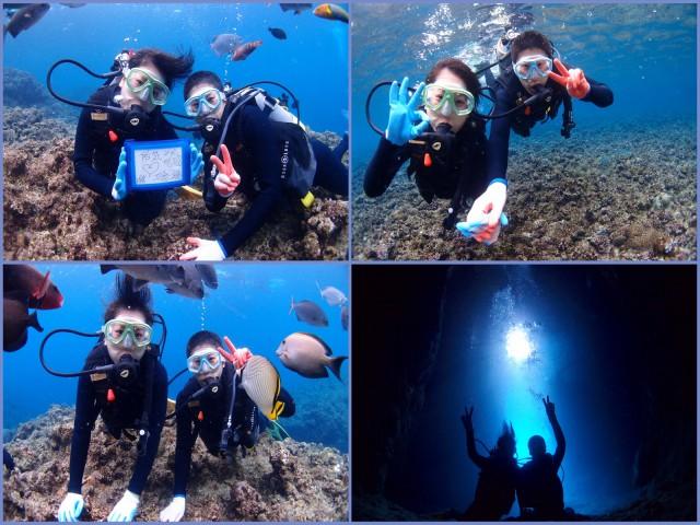 1月でも海で楽しめる沖縄でシュノーケル&ダイビングツアー 2018年1月8日のお客様