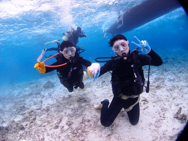 沖縄 マーメイドスイム体験 ムーンビーチ&裏真栄田で遊ぶ体験ダイビング 2018年1月24日のお客様