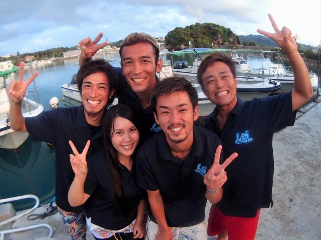2018年スタート!!沖縄 青の洞窟 ダイビングとシュノーケル 2018年1月2日のお客様