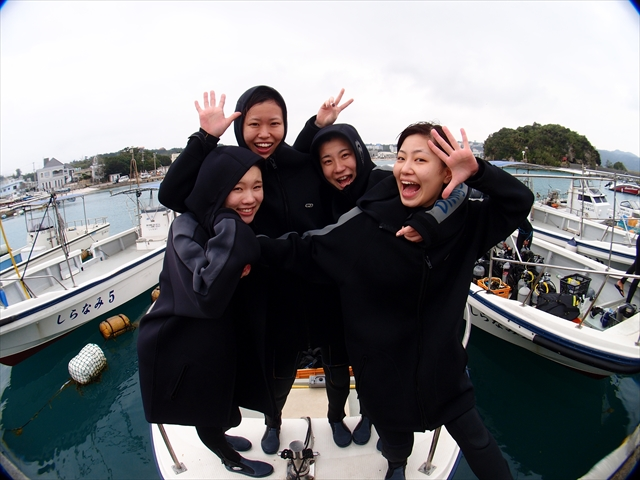 青の洞窟 真栄田岬でダイビングにご案内 2018年2月22日のお客様