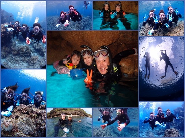 沖縄の海でガイド貸切ツアー ダイビング&シュノーケル 2018年4月12日のお客様