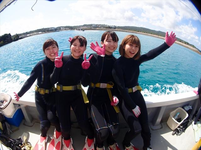沖縄真栄田岬でダイビングとシュノーケル 2018年4月3日のお客様