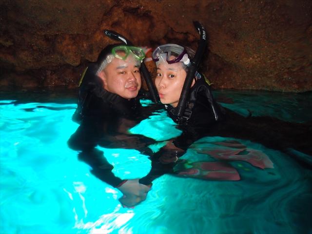 沖縄旅行 青の洞窟