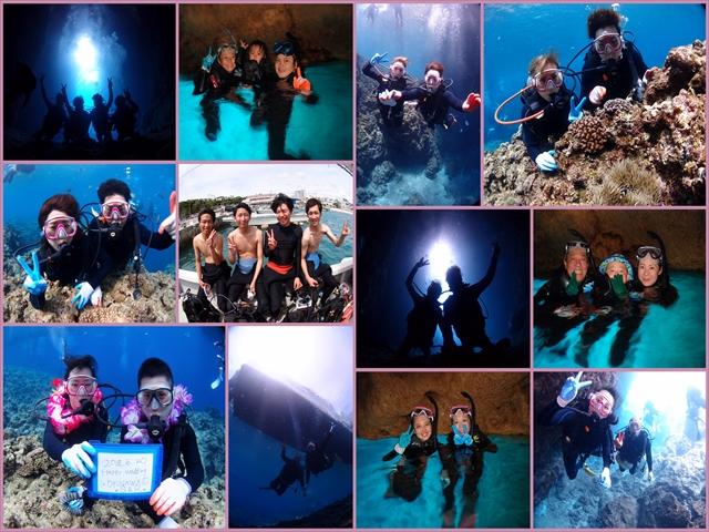 沖縄 ボートで行く青の洞窟体験ダイビング&シュノーケル 2018年6月20日のお客様