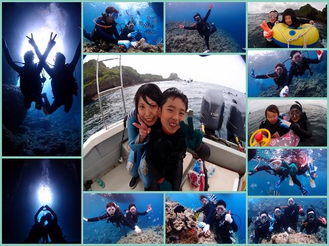 沖縄 ボートで行くダイビング&シュノーケルツアー 2018年6月11日のお客様
