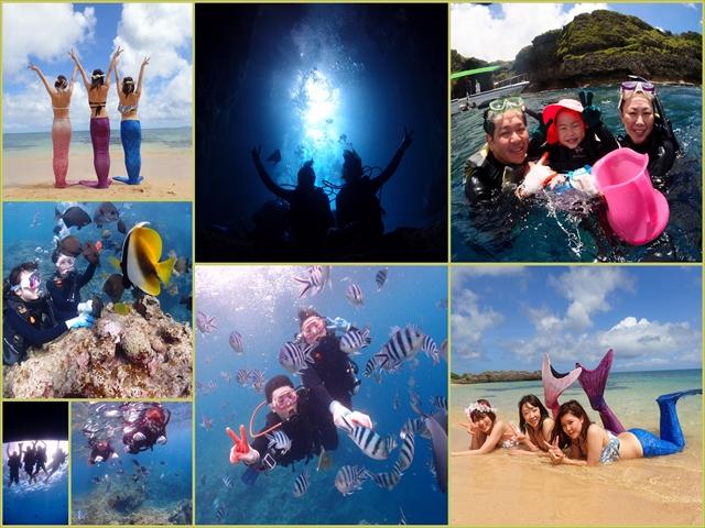 沖縄 海の日の青の洞窟 2018年7月16日のお客様