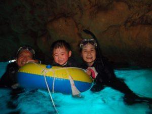 青の洞窟シュノーケル ちびっ子