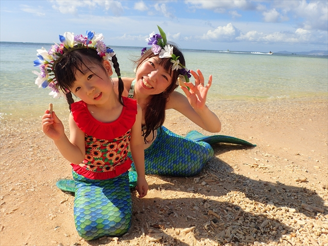 綺麗なビーチで 沖縄