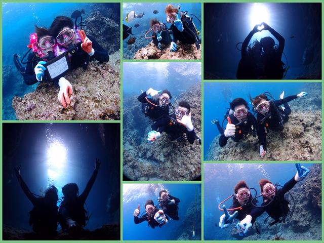 沖縄 青の洞窟 台風後