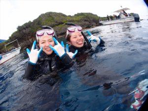 沖縄旅行 初シュノーケル