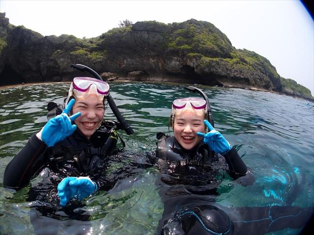 沖縄 夏休みに家族でダイビング&シュノーケル2018年8月9日のお客様