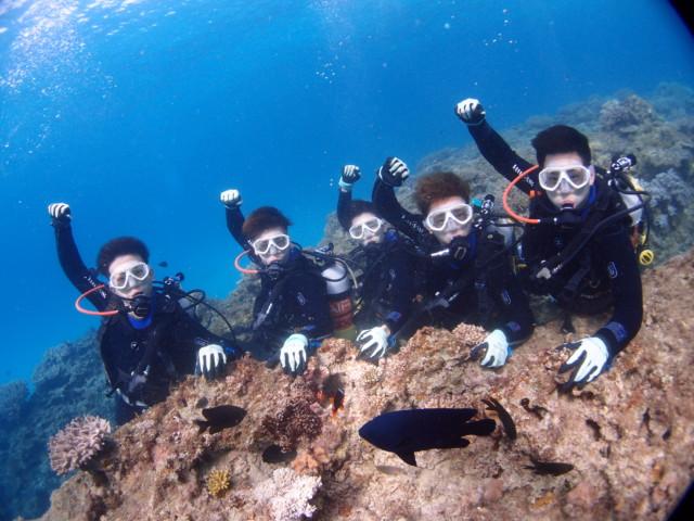 沖縄 ゴリラチョップで体験ダイビング 2019年12月3日のお客様