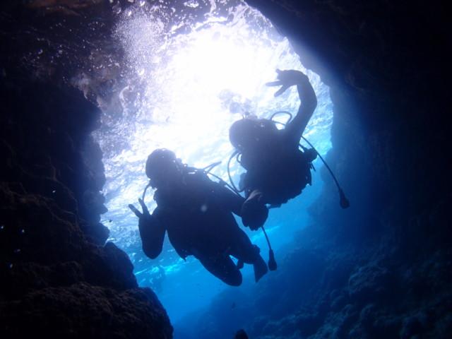 雨の日の青の洞窟ダイビングツアー 2020年3月13日のお客様