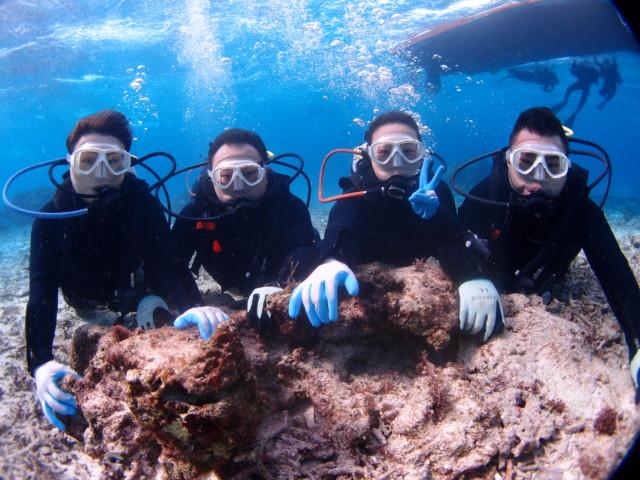 透明度抜群なムーンビーチでダイビング 2020年3月15日のお客様