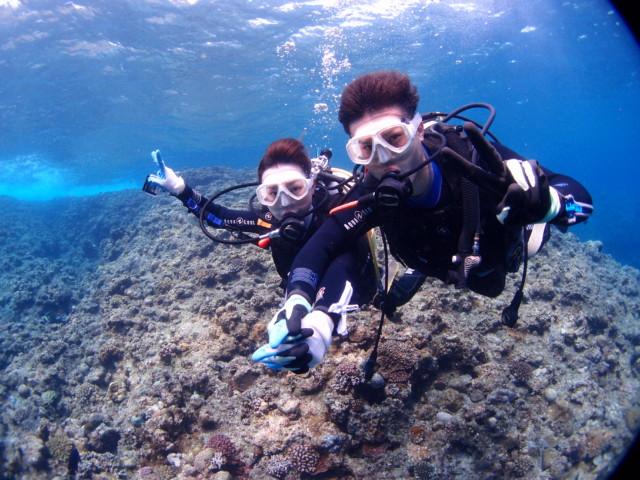 沖縄 ドキドキの初ダイビング 2020年3月23日のお客様