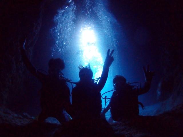 沖縄 青の洞窟ボートダイビング 2019年1月8日のお客様