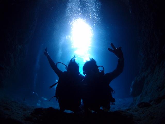 沖縄 青の洞窟ダイビング 貸切ツアー 2019年2月18日のお客様