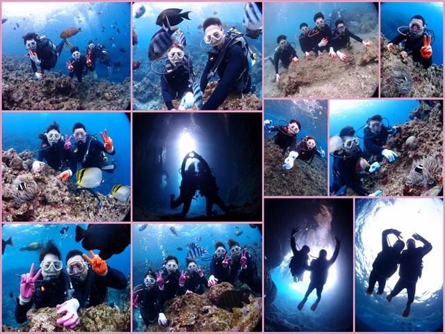 沖縄 真栄田岬 青の洞窟体験ダイビング 2019年2月20日のお客様
