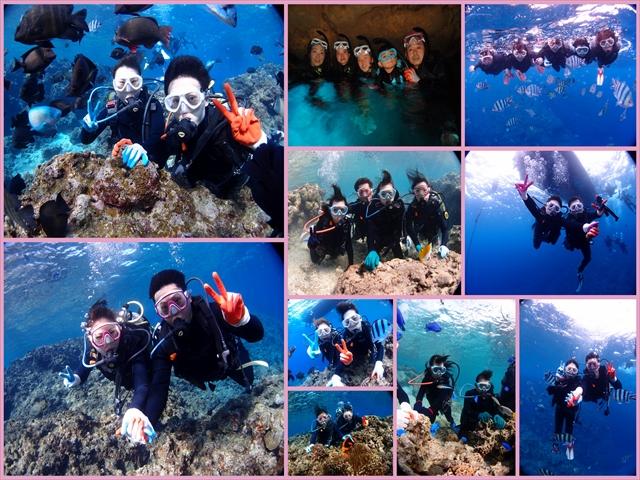 今年最後の海の海遊び 沖縄ダイビング&シュノーケル 2018年12月22日のお客様